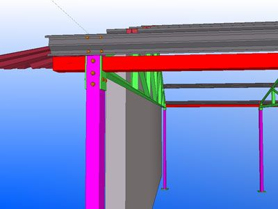 3D image of supporting metal frame work at Harp's GAA grounds. Works carried out by Eugene Foley Construction Limited